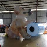 Cão inflável para publicidade
