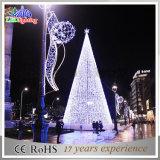 Luz ao ar livre da decoração do Natal da árvore superior do diodo emissor de luz da alameda de compra