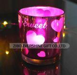 画像の昇進のゲルの蝋燭が付いているガラス蝋燭ホールダー