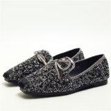 새로운 디자인 Shoes 편평한 수정같은 Sequins 게으름뱅이 숙녀