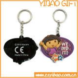 Progettare il PVC per il cliente molle Keychain, l'anello portachiavi del Wristband del silicone (YB-K-035)