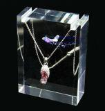 De acryl Kosmetische Vertoning van de Juwelen van de Halsband van de Lippenstift van het Nagellak
