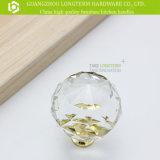 Ручка шкафа ручки мебели круглой ясности цинка кристаллический