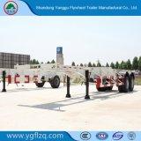 3 40FT/20FT 콘테이너 수송을%s 차축 12.5m 해골 유형 또는 반 평상형 트레일러 트레일러