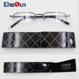 Metade de metal óculos de leitura da RIM com mala rígida
