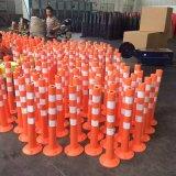 Bollard d'avertissement en plastique souple délinéateur Route Post