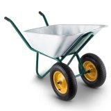 Для тяжелого режима работы оцинкованный Wheelbarrow двускатных колес