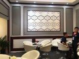 Carrelage mural 3D pour la télévision Conseil panneau décoratif en PVC en cuir