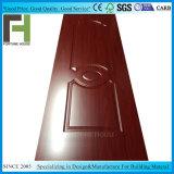 MDF HDF Interior moldeado de la puerta de madera melamina pieles