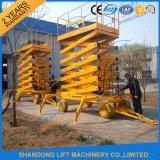 type remorquable table élévatrice de 6m hydraulique de ciseaux mobiles