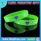 Breast CancerのためのピンクのRibbon Debossed Silicone Bracelets/Wristbands