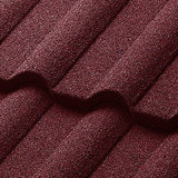 La construcción de techo plano material metal recubierto de piedra color teja