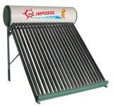 2016 presurizado del tubo de vacío compacto calentador de agua solar