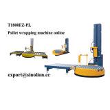 A plataforma giratória Pre-Estica a máquina de envolvimento em linha do estiramento da pálete