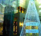 セリウムが付いているLEDのクリスマスの星の照明カーテンストリングライト
