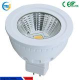 Luz muy caliente sostenida del punto de la MAZORCA GU10/MR16 5W LED de la viruta