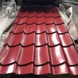 A cor vermelha Prepainted Galvanizado Telhas Onduladas