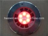 Indicatore luminoso sotterraneo del mattone solare rotondo variopinto del LED