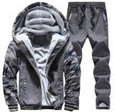 O Zipper de 2017 homens acima das lãs da camisola de Hoodies do velo de Hooed dos revestimentos do inverno aquece revestimentos grossos