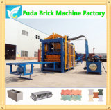 Ligne élevée d'usine de brique de presse hydraulique de taille de Qt4-15 Efficency grande, machine automatique de bloc