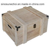 Personalizar la caja de Té de madera con laca roja en la venta caliente