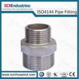 Tetina sextavado em aço inoxidável reduzindo as conexões roscadas