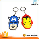Presentes pequenos Custom Cartoon Activity Key Ideas de corrente de borracha macia de PVC Chain Chain Key Chain Pendant