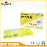 Cartão Em/Tk /MIFARE 1K/Ntag/DESFire EV1 de Cr80 RFID para o E-Bilhete e o controle de acesso