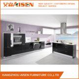 De zwarte Hoge Kleur polijst Keukenkast van de Lak van het Ontwerp van de Afwerking de Moderne