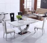 Mesa de jantar grande grande de aço inoxidável