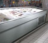 Ijskast van de Vissen van de Vertoning van de Vissen van de supermarkt de Open Koelere