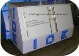 Строить-в Merchandiser хранения льда двери скоса блока