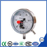 Oil를 가진 최신 Selling Shock Resistant Electric Contact Manometer Pressure Gauge