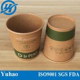 A fábrica fornece o copo de café do papel do ofício de Brown
