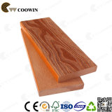 Decking de madera compuesto al aire libre de madera impermeable del grano WPC