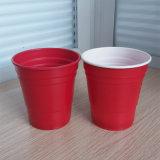 10oz 285ml Wegwerf-pp. Plastikrot-Solo Partei-Cup