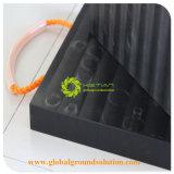 Zwarte Kleur 100% de Zuivere Materiële OpenluchtHDPE van de Mat van de Bescherming van de Kraan UHMWPE Stootkussens van Kraanbalken