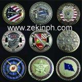 習慣米国の軍の金属の挑戦硬貨