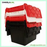 Moviendo los libros de plástico con tapa de caja de transporte de almacenamiento.