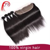 закрытие Frontal шнурка 13X4 бразильского шнурка волос 7A прифронтовое прямое