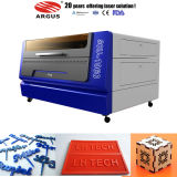 二酸化炭素革ファブリックレーザーの切断の彫版機械