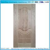 A noz vermelha de madeira natural moldou a pele laminada da porta do MDF HDF