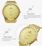 OEM van Hete het Verkopende Polshorloge van het Horlogebandje van het Staal van de Wijzerplaat van het Polshorloge Kwarts van het BedrijfsMensen Grote Uiterst dunne voor Goud van Belbi van de Merknaam van de Luxe van Mensen het Zwarte Zilveren