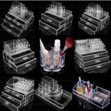 Cadre de chaussure acrylique de contre- plexiglass en plastique clair de bijou pour le produit de beauté