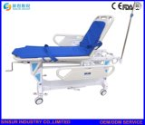 Equipo de Hospital regulable en altura manual camilla plegable de transporte de emergencia