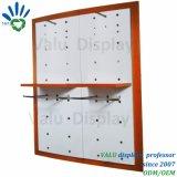 Одежда дисплей шельфа/металлической стойке дисплея крепится к стене/MDF одежды магазин мебели