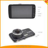 câmera do traço do carro de 4inch FHD1080p com as câmeras duplas da lente