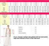Lace Party Prom Gown Beading Stock barato vestido de dama de honra A17198