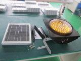 Gelbe blinkende Solarampel