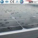 Vetro solare Tempered modellato ferro basso libero per il comitato fotovoltaico